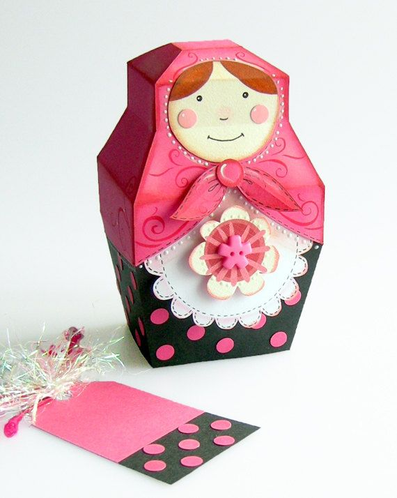 Muñeca rusa babushka patrón baboushka. Arte de por papercathie, £2.20