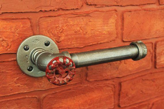 porte papier de tuyauterie industrielle steampunk par hanormanor deco tuyaux pinterest. Black Bedroom Furniture Sets. Home Design Ideas