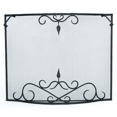 Minuteman Bostonian Curved Wrought Iron Fireplace Screen Size Large