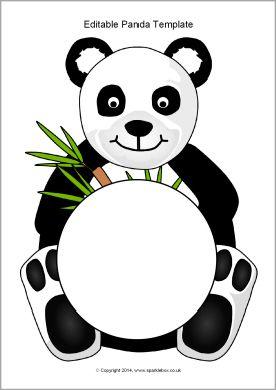 Editable Panda Template Sb10313 Sparklebox Panda Activities Panda Craft Panda Decorations