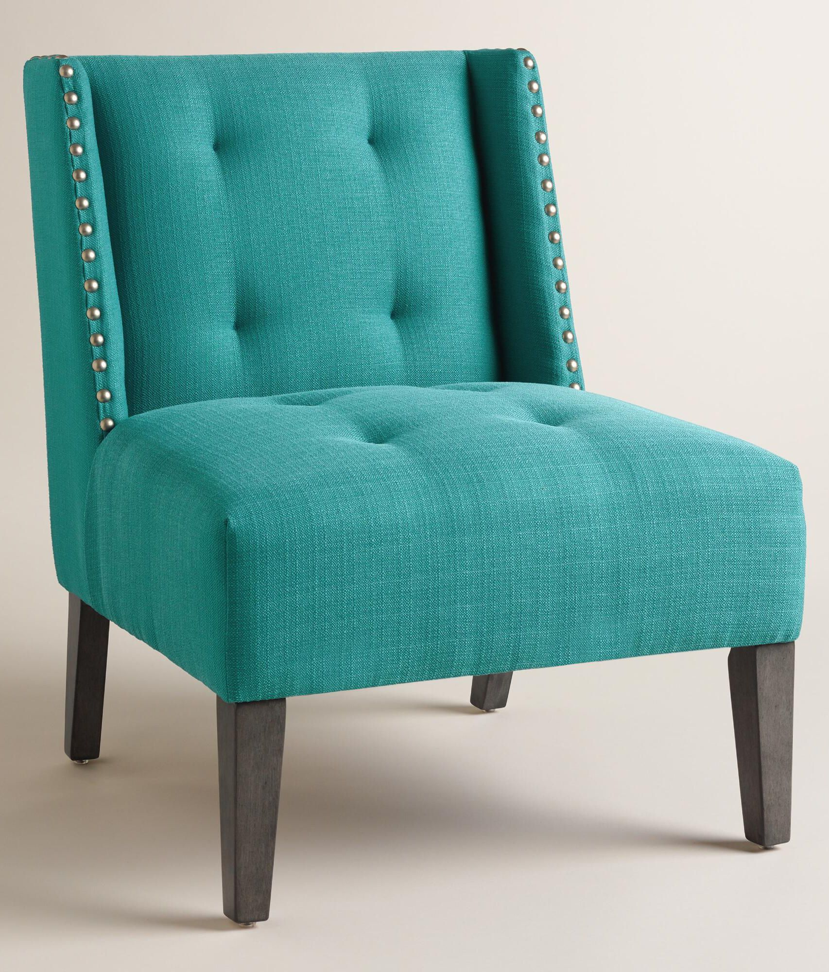 Peacock Blue Carlin Wingback Chair House Of Turquoise Blue