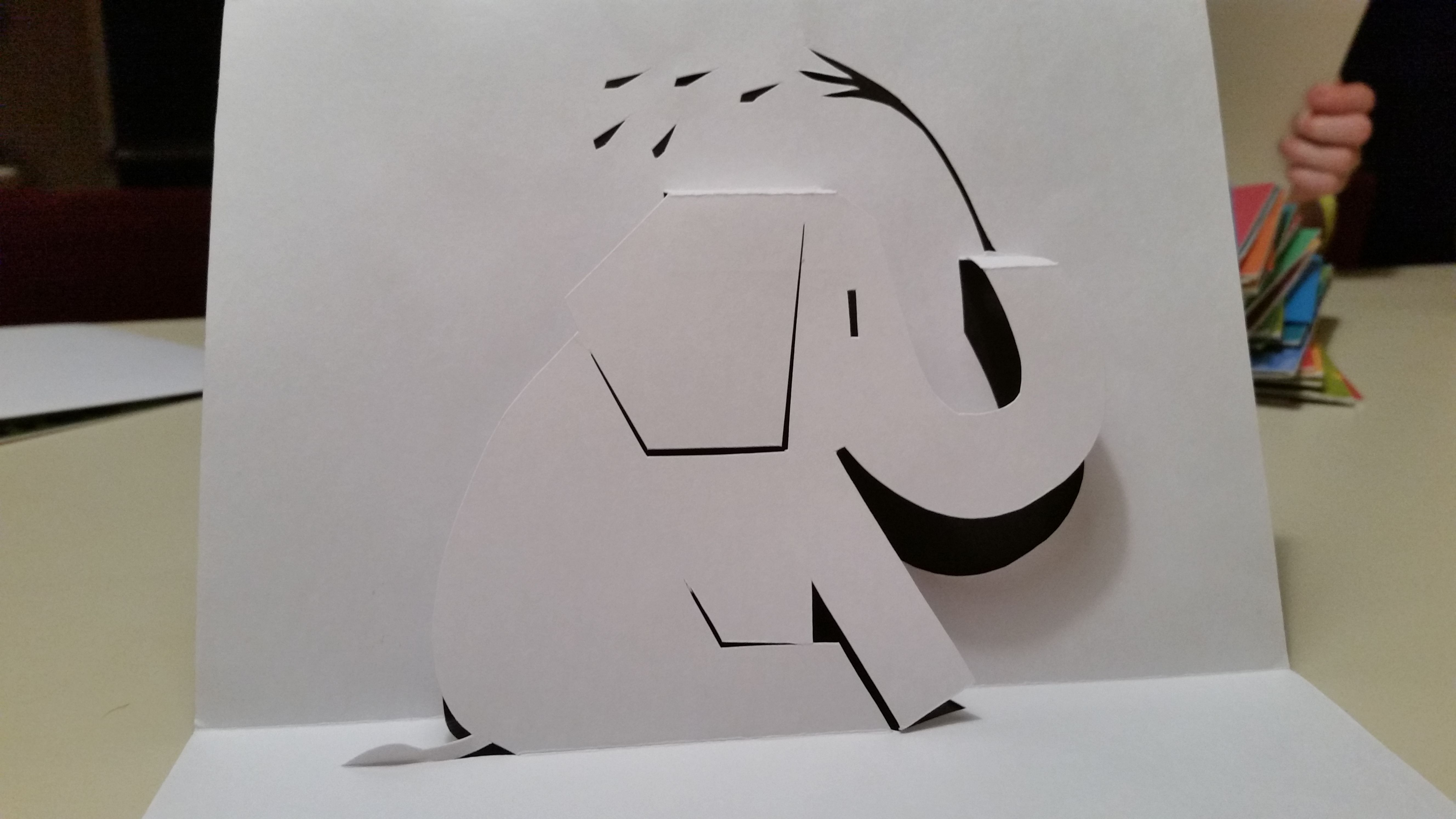 Elephant pop-up card (Template from Handmade Papercraft club at ...