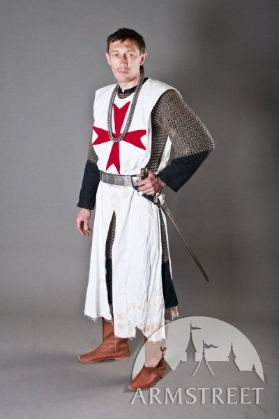 15% DISCOUNT! Knight Crusader Templar Medieval Tunic with Cross b2qRg5