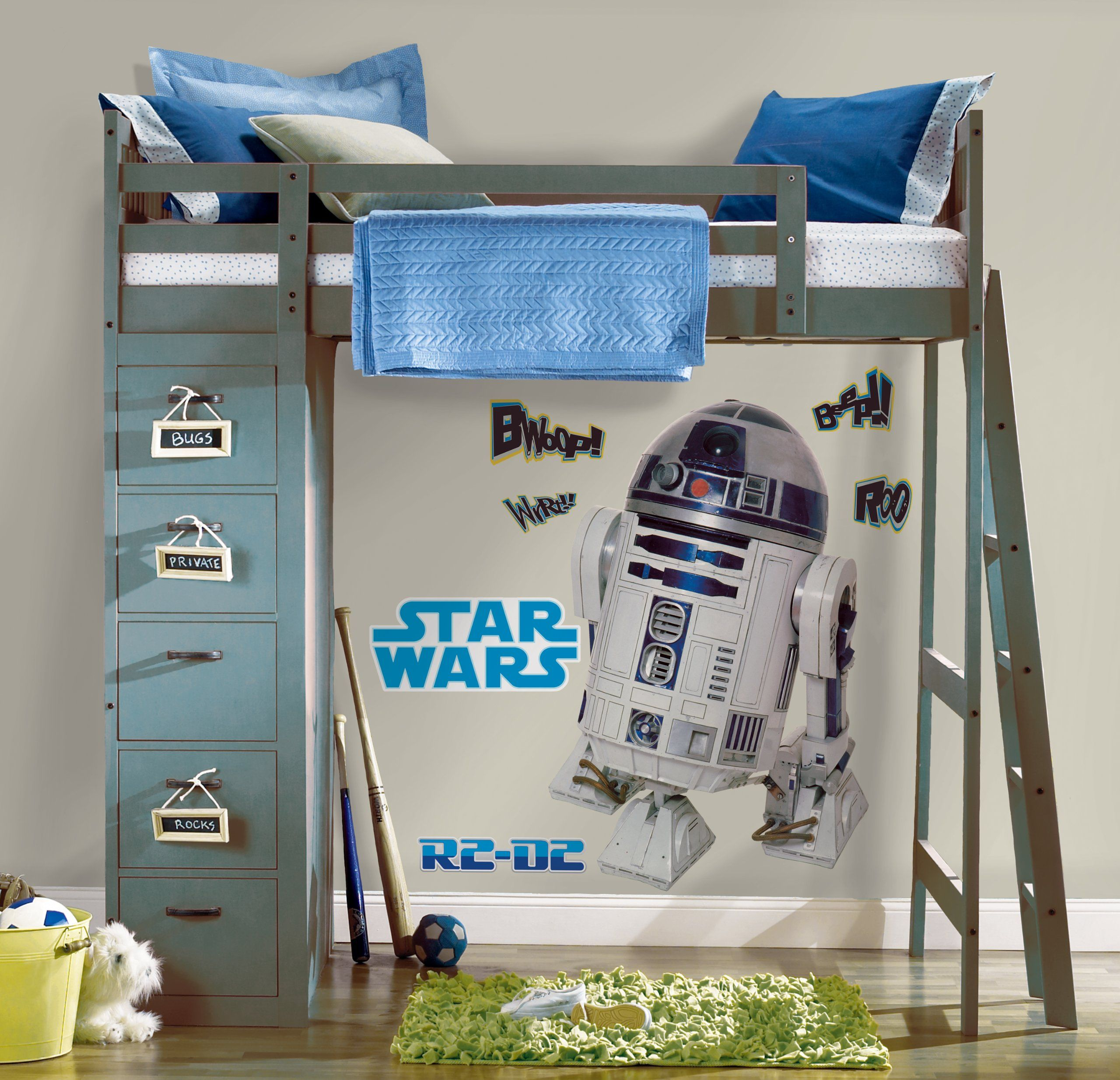 AmazonSmile: Roommates Rmk1592Gm Star Wars Classic R2D2 Peel And Stick Giant Wall Decal: Home Improvement