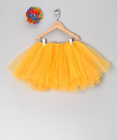 Take a look at this Orange Tutu & Flower Clip - Toddler & Girls by Tulles of Love on #zulily today!
