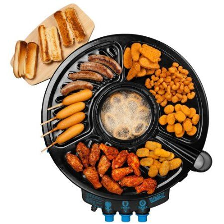 Amazon.com: Blacktop 360 HFI Premium Party Hub Grill/Fryer, Black/Blue: Patio, Lawn & Garden ($250)
