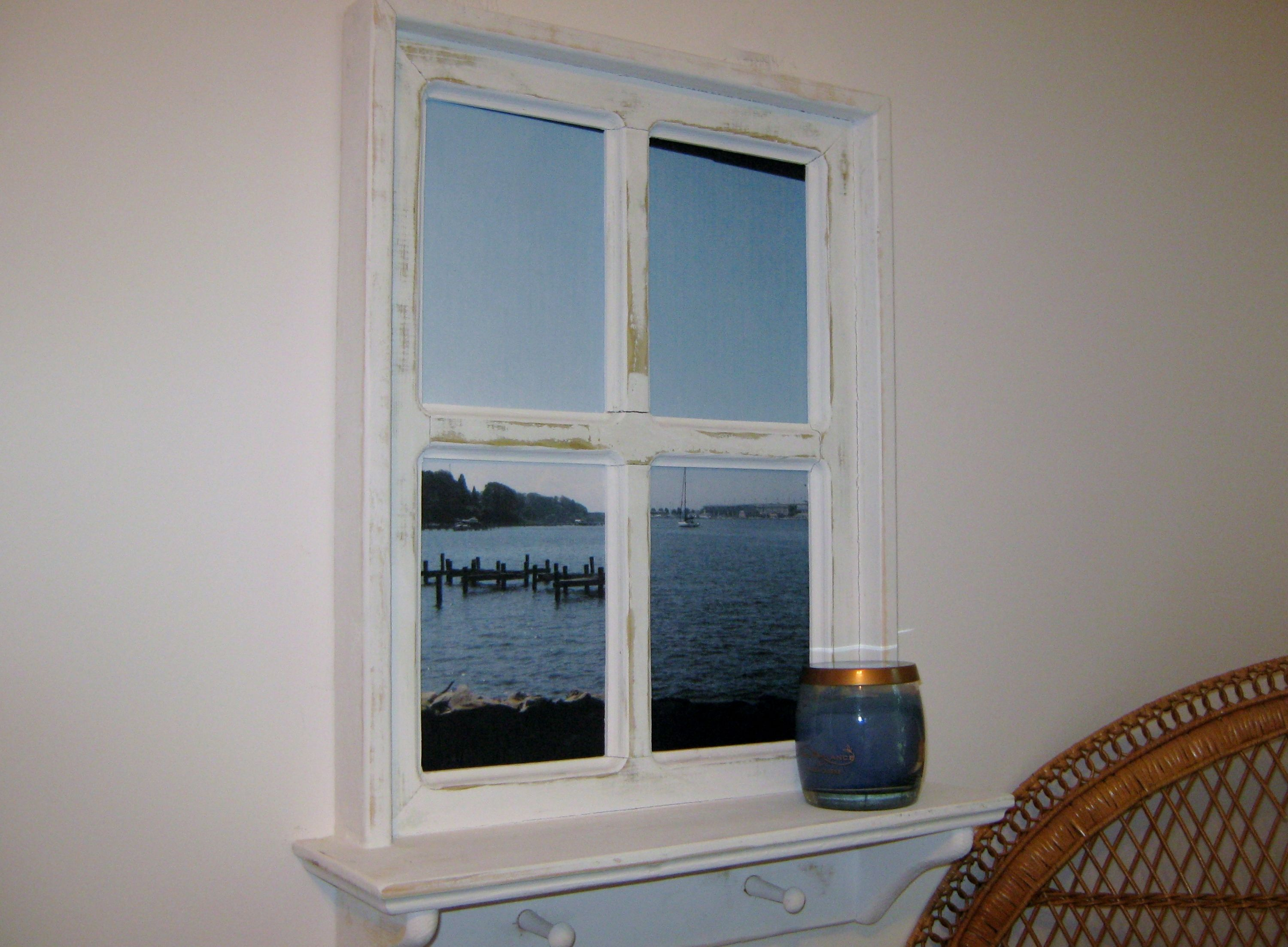 Shabby Chic Faux Window Frame, photo taken under Naval Academy ...
