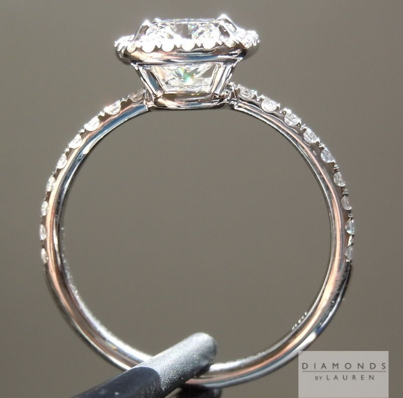 Side view of Halo ring Wedding Rings Pinterest Halo rings