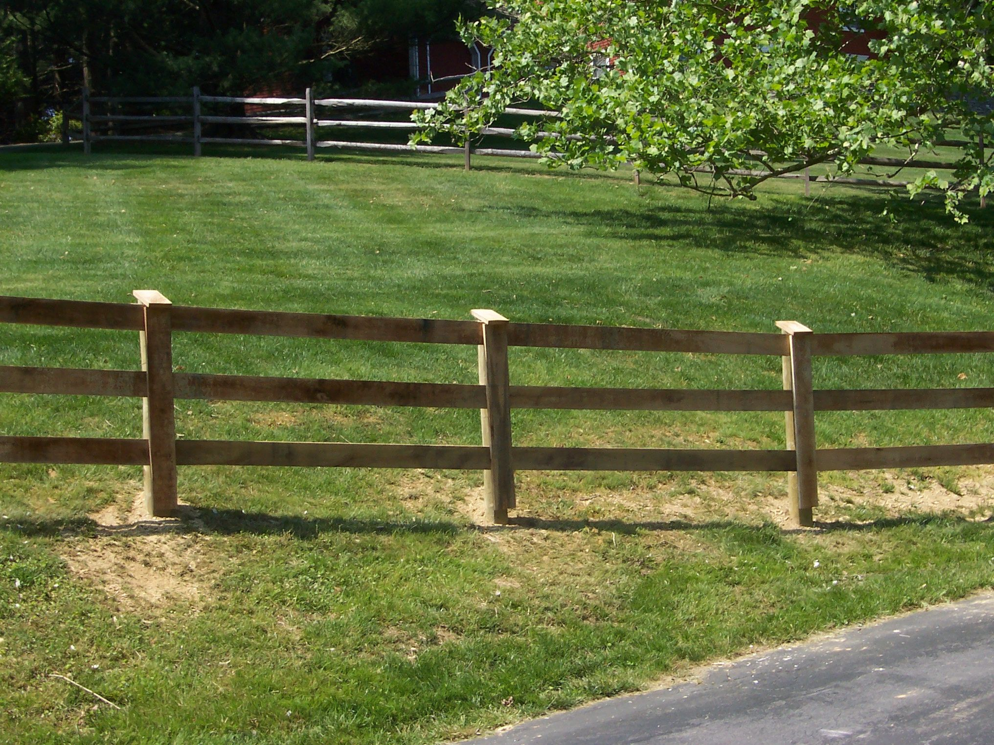 Wood 3 Board Oak Paddock Fence Wood Fence Wood Retaining Wall Fence