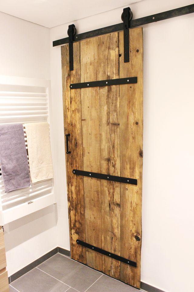 DIY} alte Schiebetür + Gewinner (su0027Bastelkistle) Barn doors - schiebetüren für badezimmer