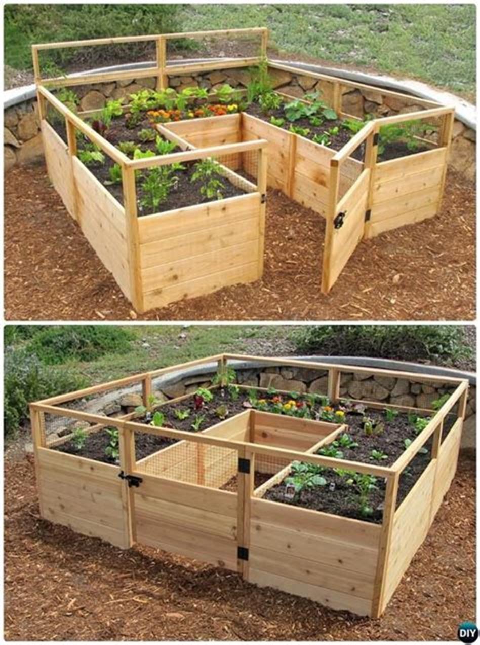 41 Beautiful DIY Backyard Vegetable Garden Ideas 1 - DecoRecent -   14 planting DIY backyards ideas
