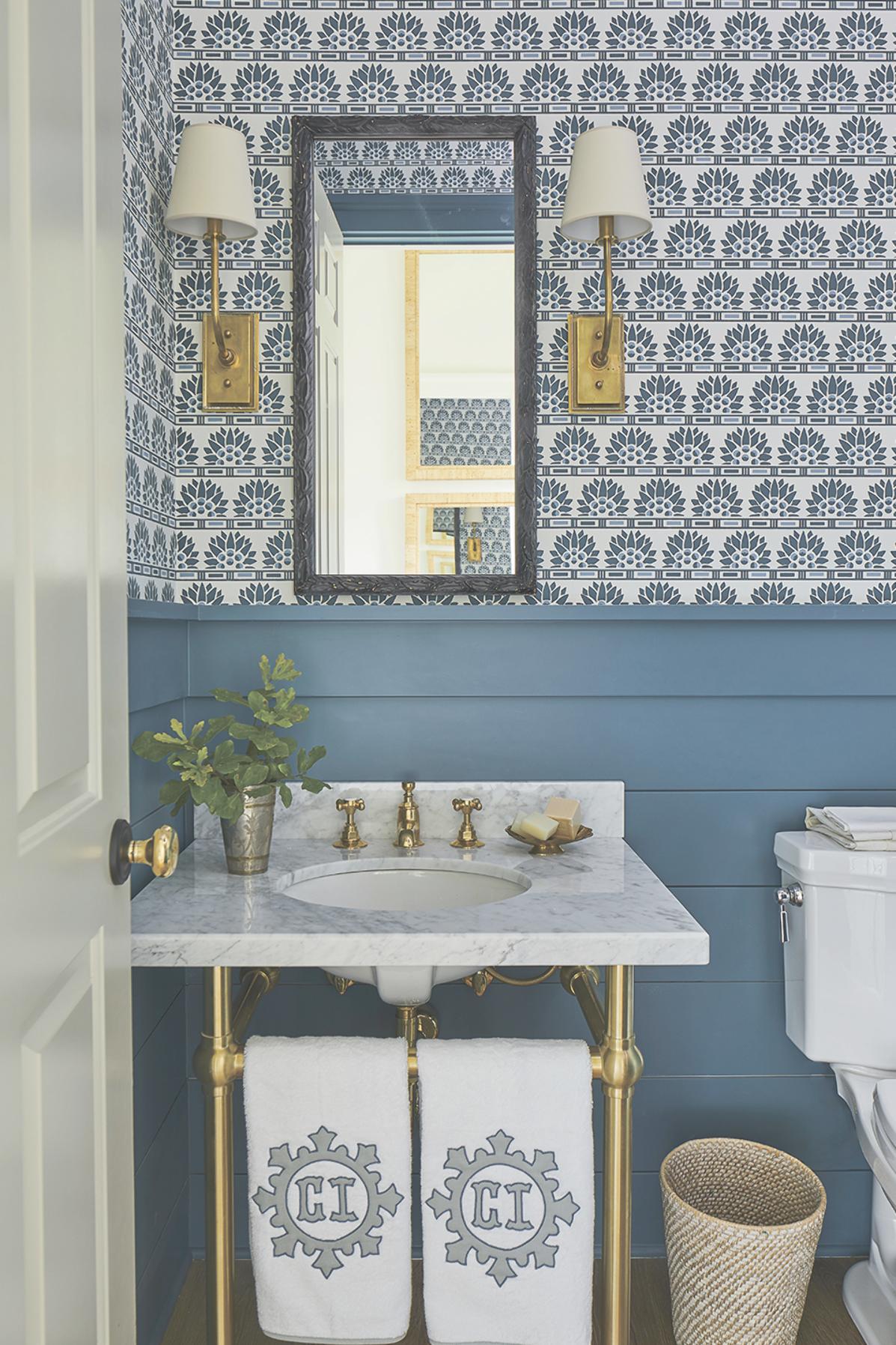 2019 Southern Living Idea House Circa Lighting Toiletten Tapete Damentoilette Haus Deko
