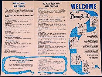 Photo of Welcome to Disneyland 1960 Guide to Disneyland Map Brochure from the Park