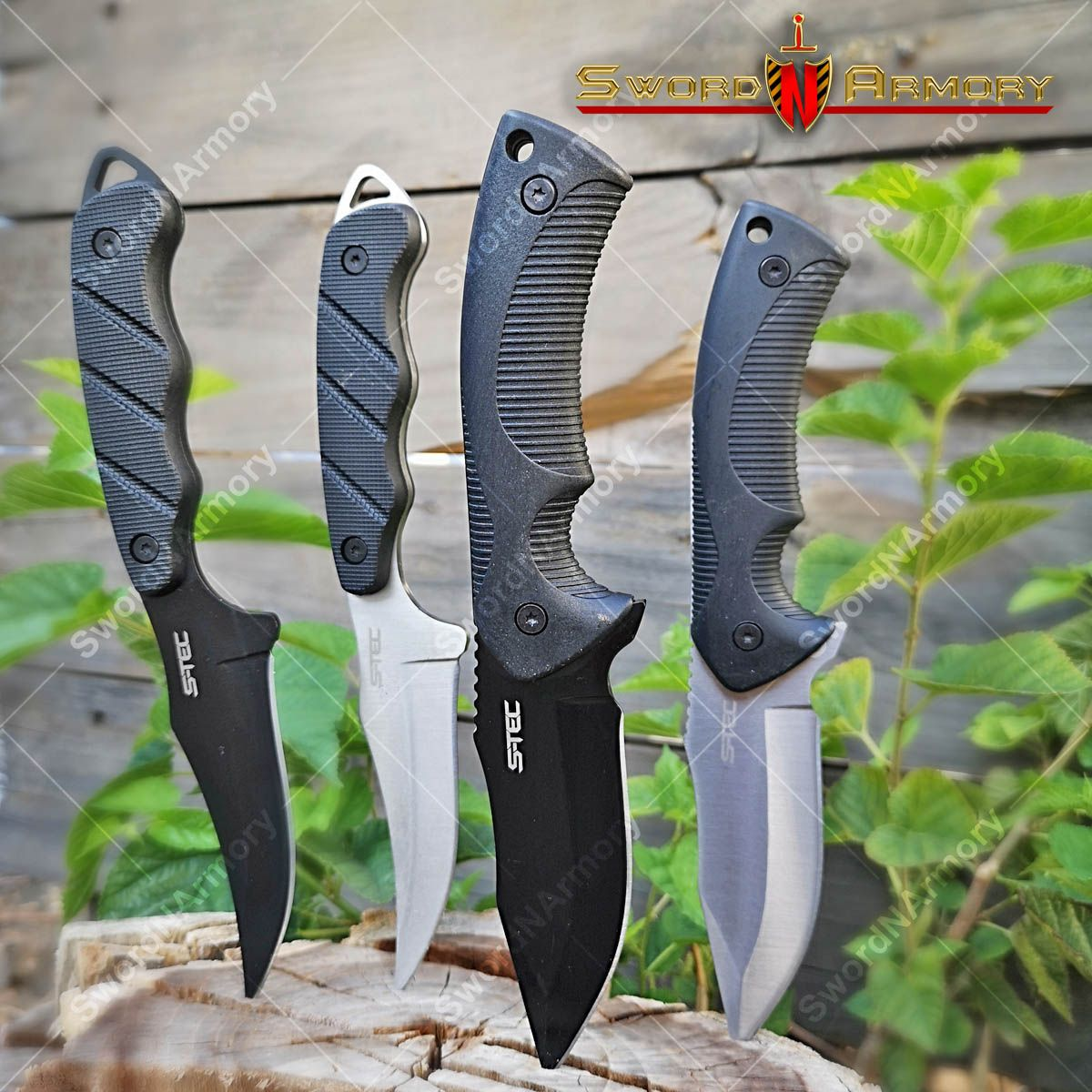 9 fixed blade tactical hunting knife with abs belt loop