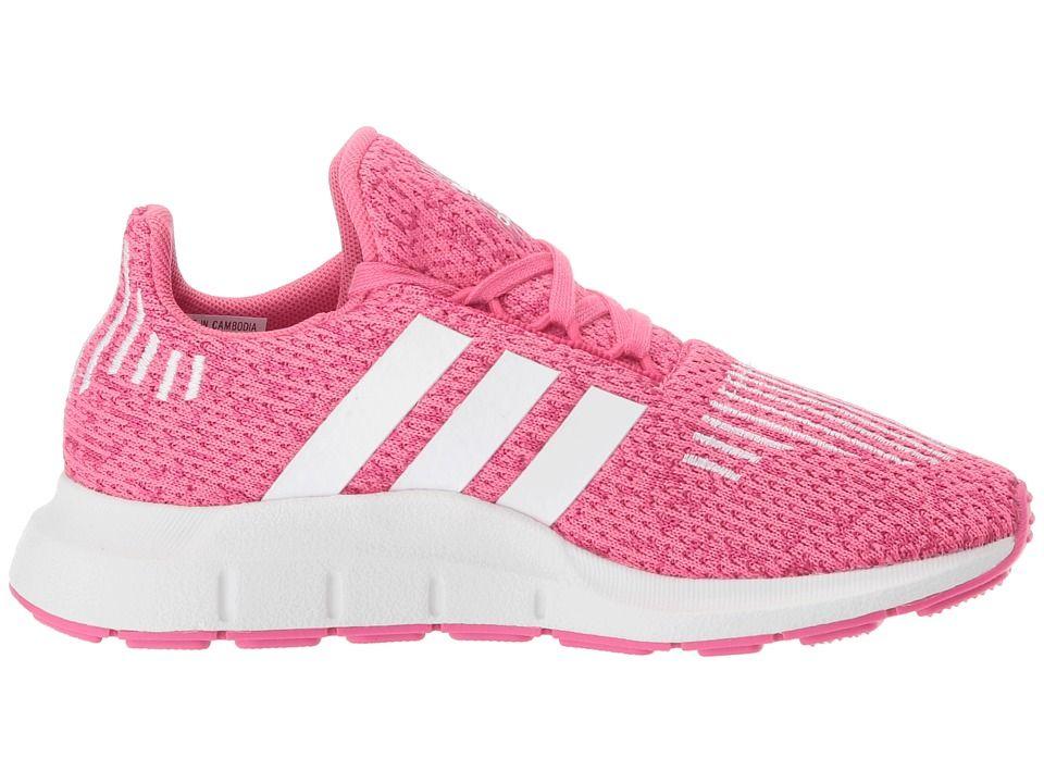 7e0bb2e3e adidas Originals Kids Swift Run C (Little Kid) Girls Shoes Solar Pink White