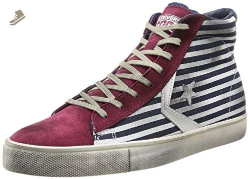 Converse Unisex Pro Leather Vulcanized Mid Bars Maroon (6.5 Mens 8 Womens)  - Converse chucks for women ( Amazon Partner-Link) 6f314637c