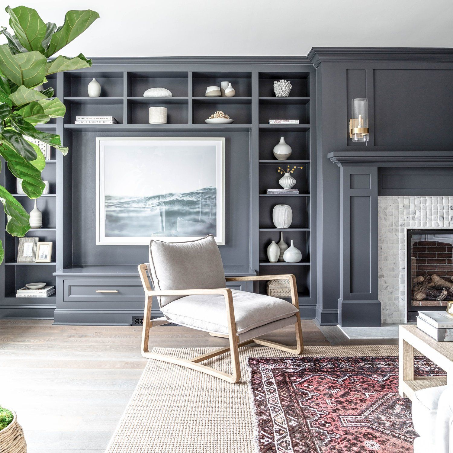 Best How Amazing Is This Charcoal Gray Living Room Built In 400 x 300
