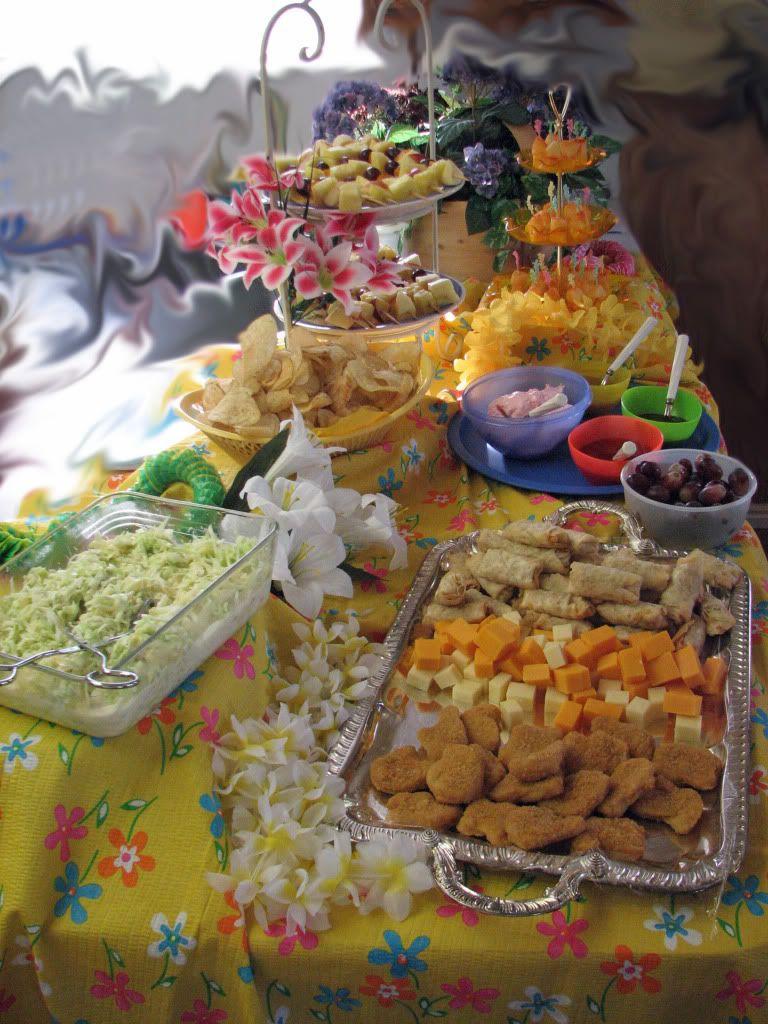 Flipflop luau party the food luau birthday party luau