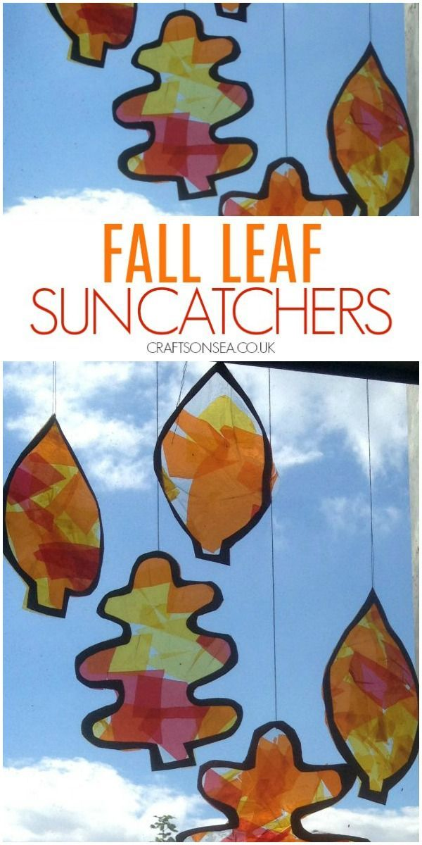 Autumn Leaf Suncatchers #fallcraftsforkidspreschool
