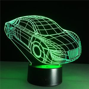 Racing Car 3d Lamp Visual Light Effect Touch Switch Amp Amp Remote Control C Night Light Led Night Light 3d Lamp