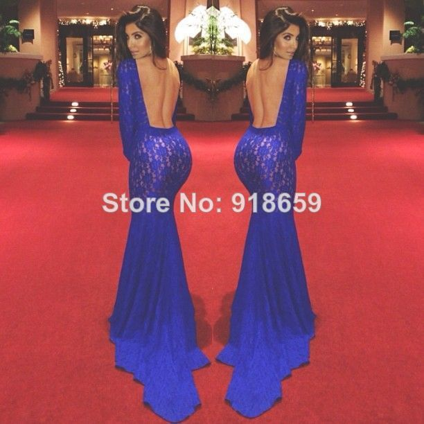 sexy high neck long sleeve lace prom dresses mermaid