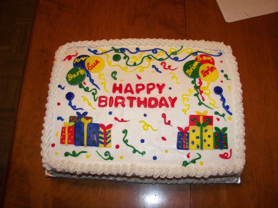 Group Birthday 1 4 Sheet Cake Birthday Sheet Cakes Cake Sheet Cake