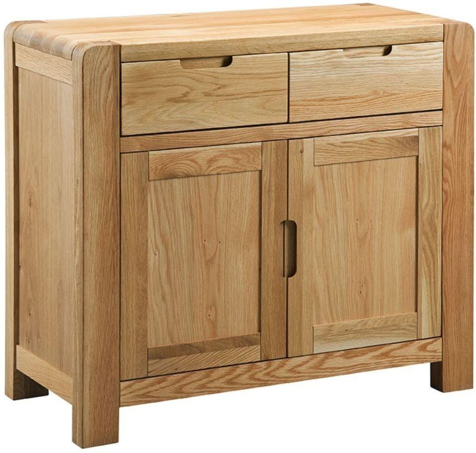 Oslo Oak 2 Door 2 Drawer Sideboard Small Oak Sideboard Oak Sideboard Small Sideboard
