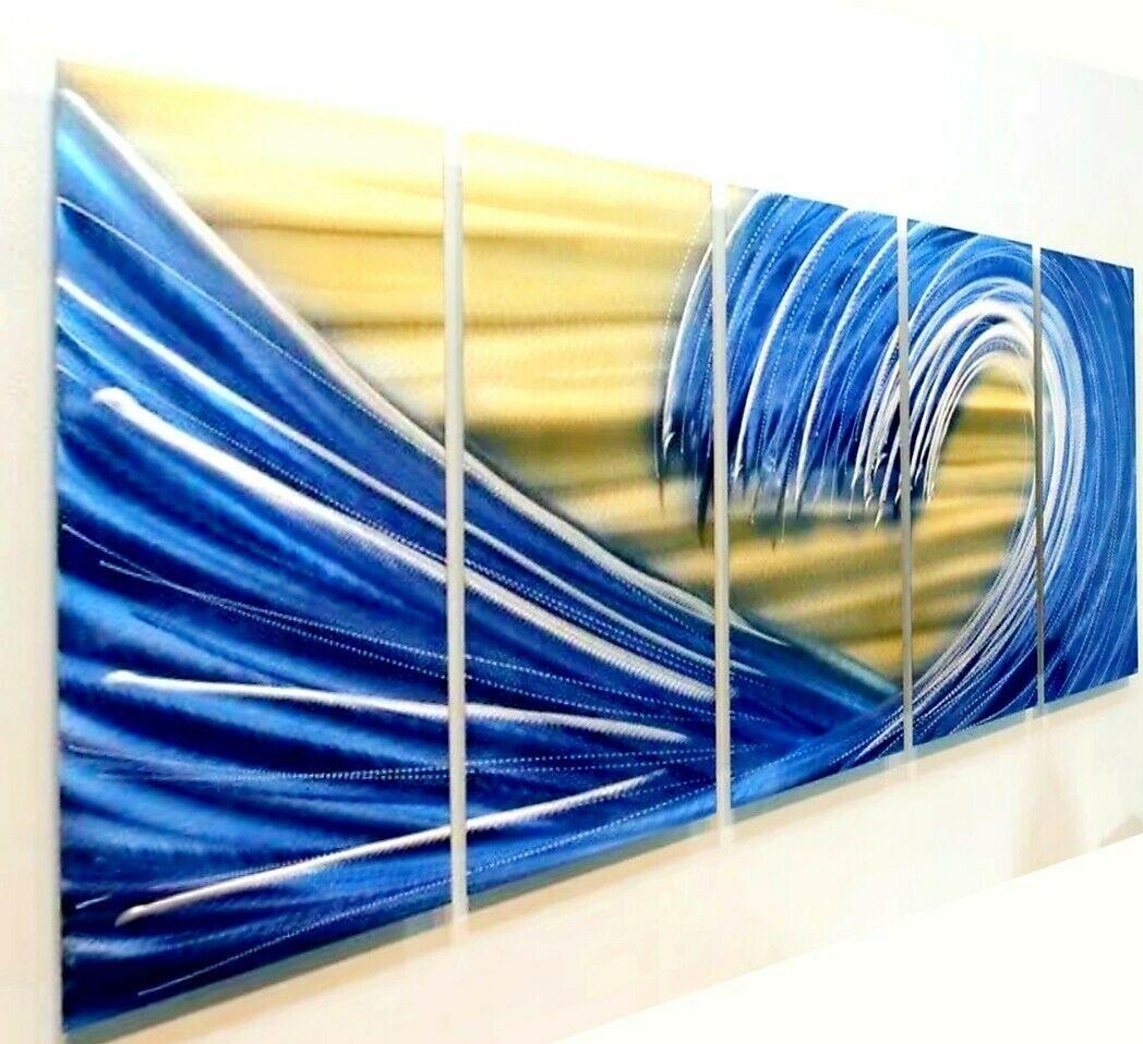 Https Ift Tt 39pcvhu Blue Metal Art Ideas Of Blue Metal Art Blueart Bluemetalart Metal Wal Navy Blue Wall Art Modern Beach Art Black Metal Wall Art