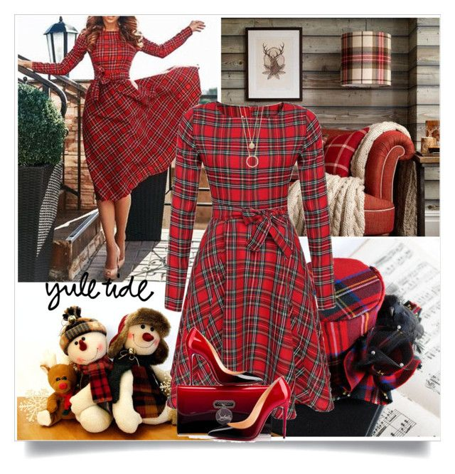 """""""Pretty in Plaid"""" by barbarapoole ❤ liked on Polyvore featuring Christian Louboutin and Kate Spade"""