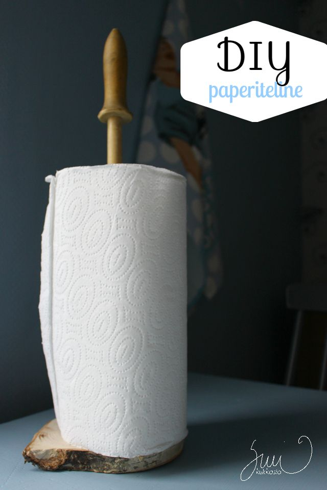 Suvikukkasia: Kaulin käyttöön! #paper #holder #diy #kitchenn