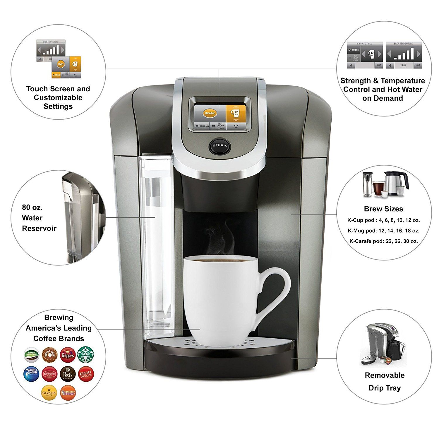 Amazon Com Keurig K575 Single Serve Programmable K Cup Coffee Maker With 12 Oz Brew Siz Single Serve Coffee Makers Single Coffee Maker Single Cup Coffee Maker