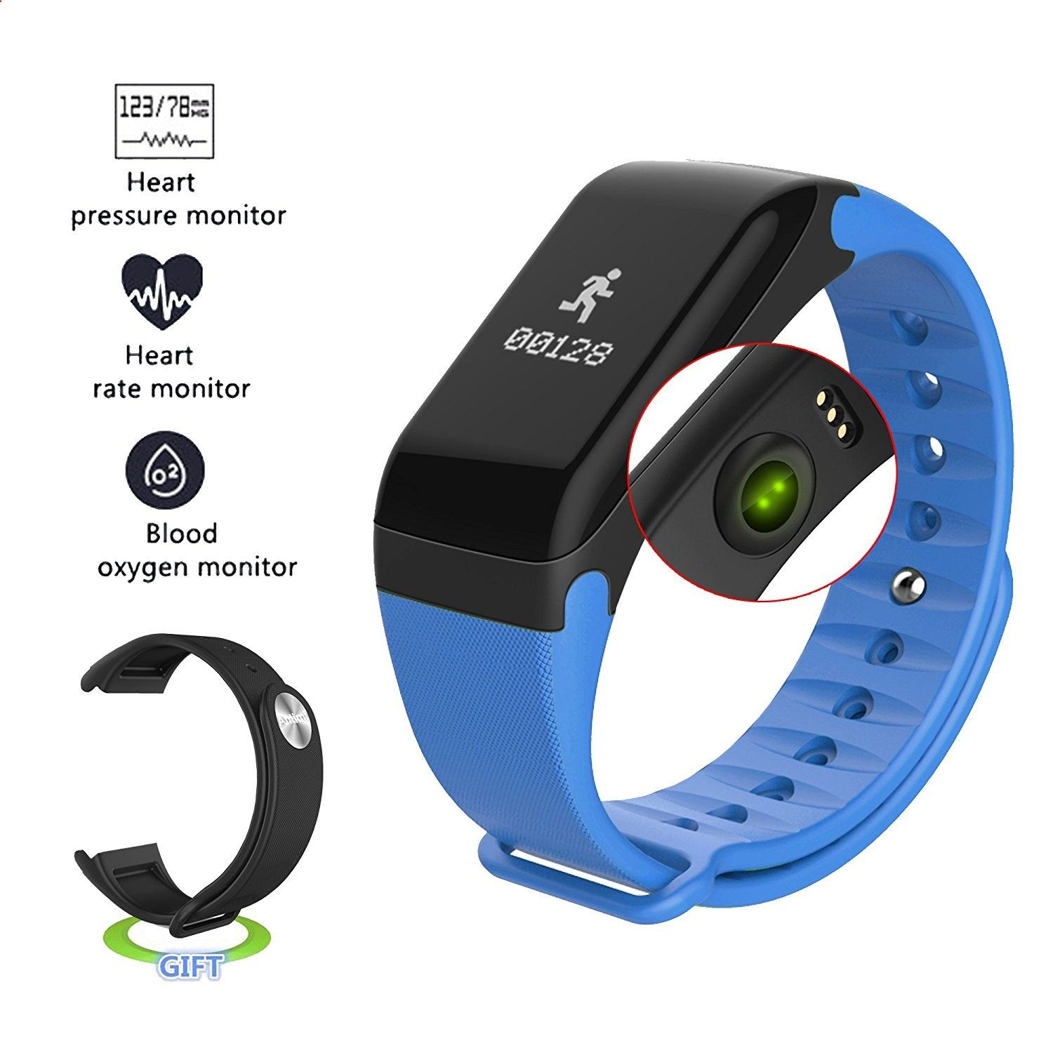 smart bracelet blood plus monitor band color watches heart no oxygen wristbands rate item fitness pressure tracker