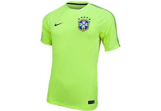 9878972d2 Nike Brazil Training Top Volt | Brazil Soccer Jerseys and Gear ...