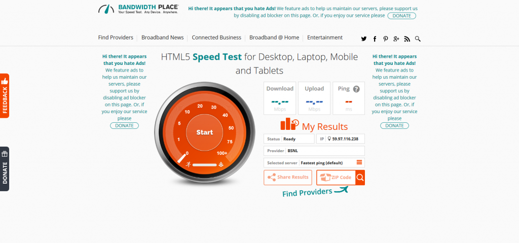 Pin On 5 Best Free Websites To Check Your Internet Speed Online