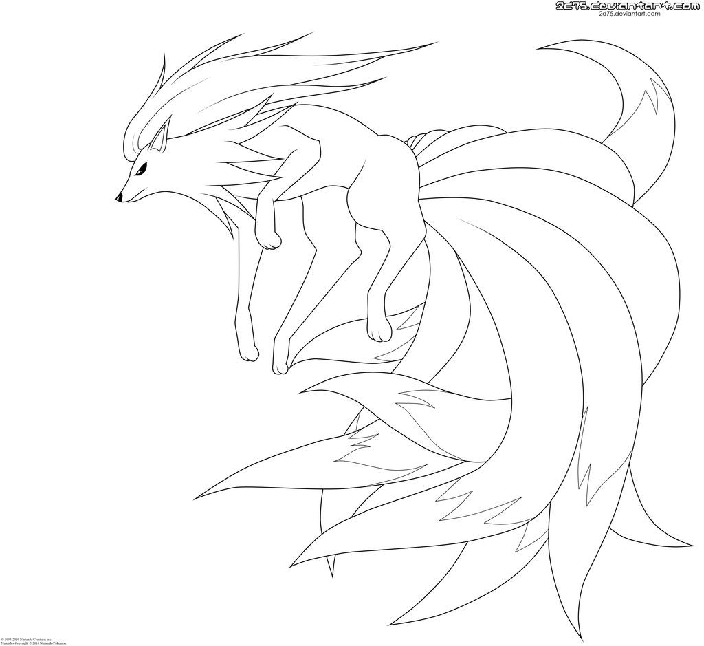Ninetales Lineart By Moxie2d On Deviantart Pokemon Coloring Pages Horse Coloring Pages Pokemon Coloring