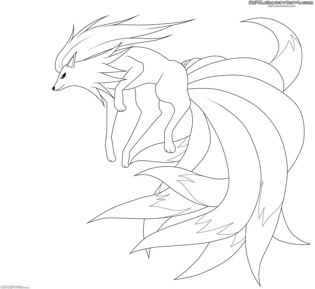 Ninetales Lineart By Moxie2d On Deviantart Pokemon Coloring