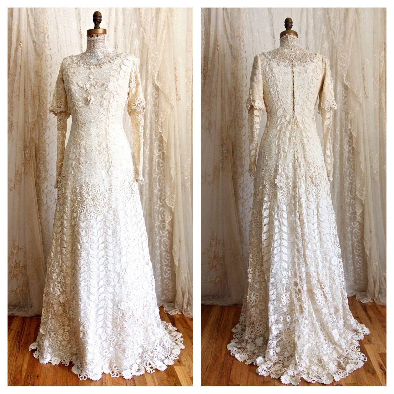 vintage irish lace wedding dress