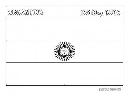 Printable Flag Of Argentina Coloring Page Printable Coloring