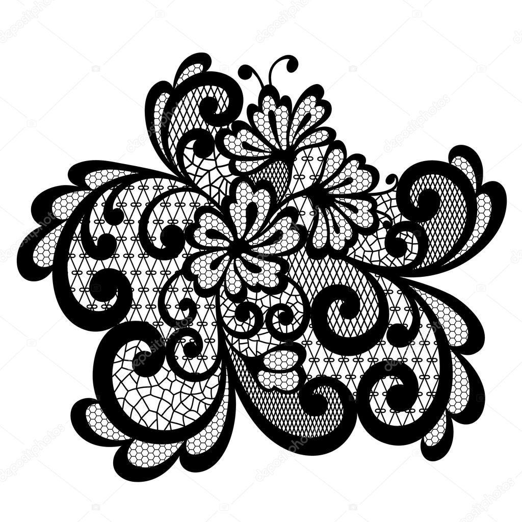download black vector lace ornament stock illustration rh pinterest co uk