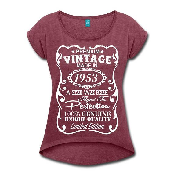 65th Birthday Gift For Woman Her VELVETY PRINT Vintage Colors Memorab