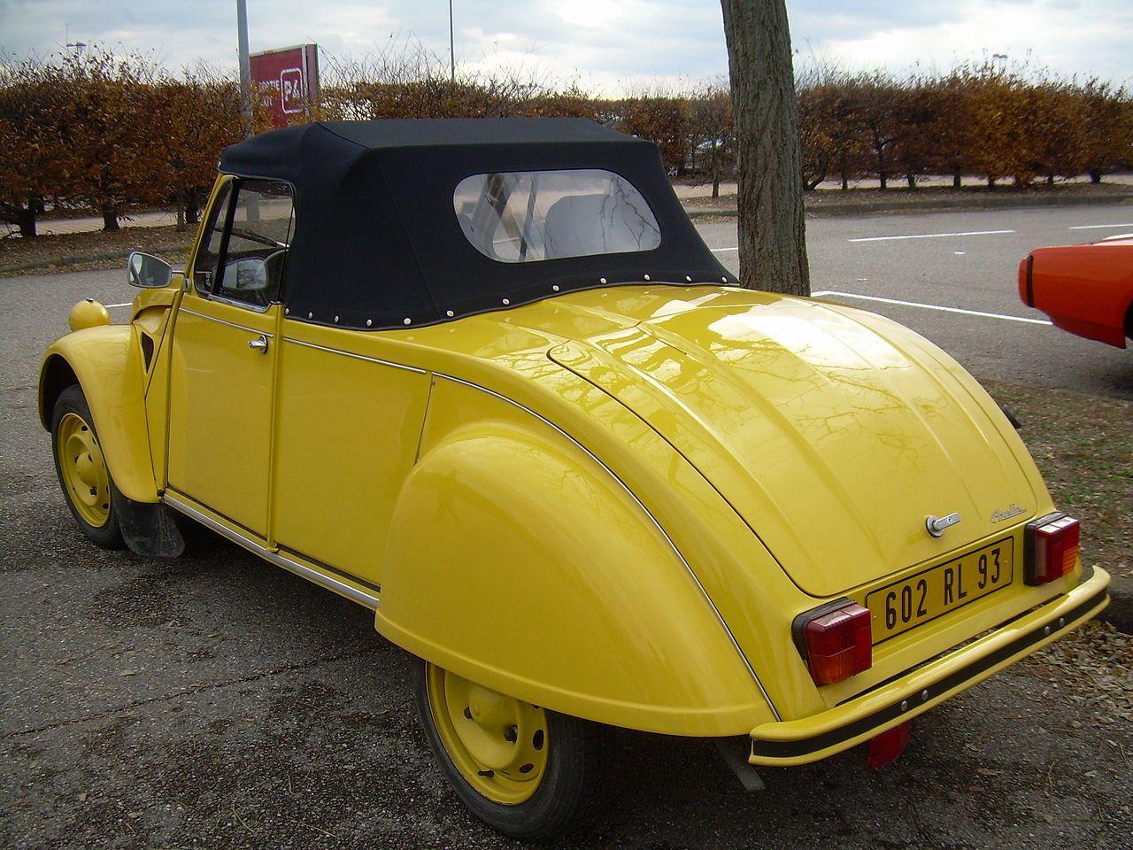Citroen 2cv Citroen 2cv Citroen Yellow Car