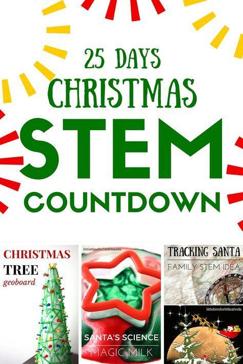 christmas stem countdown calendar science advent idea 25 days of