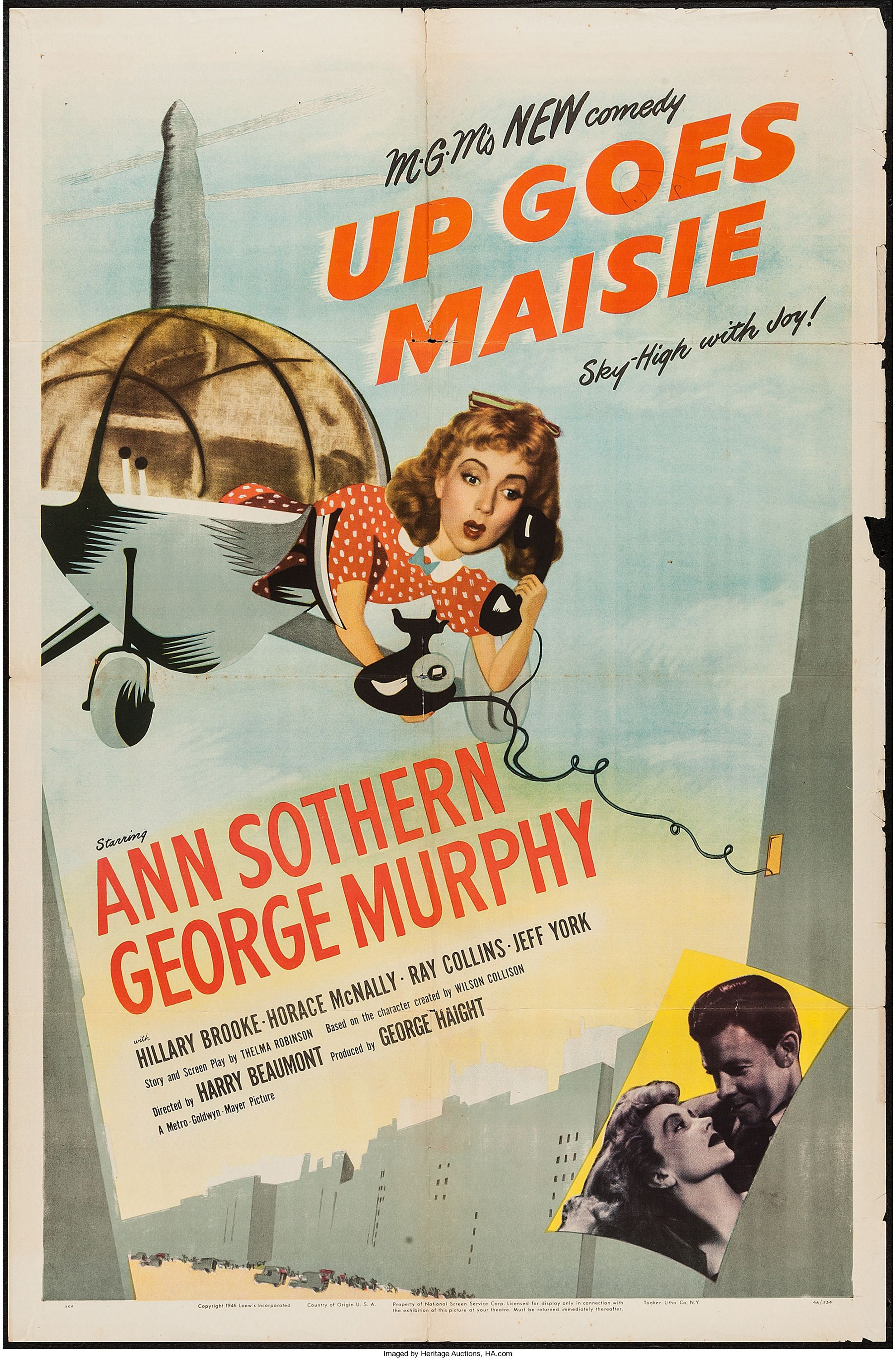 Up Goes Maisie (MGM, 1946) | Old hollywood movies, Comedy movies, Ann  sothern