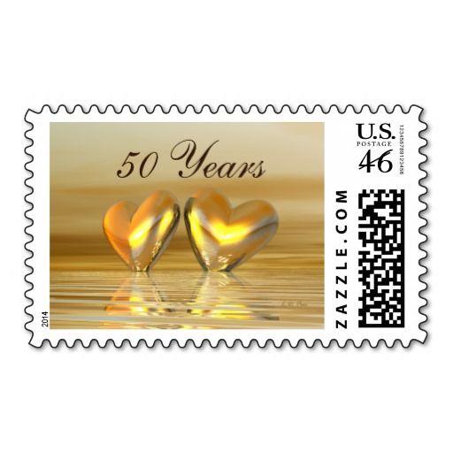 Golden Anniversary Hearts Postage