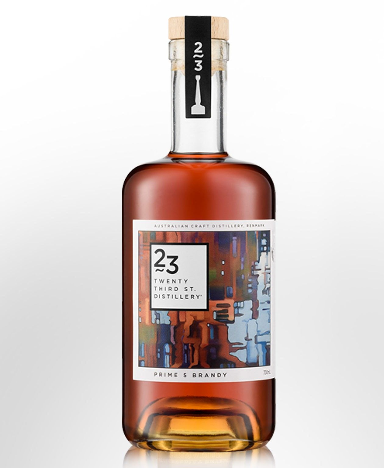 23rd Street Distillery Prime 5 Brandy 700ml Brandy Bottle Brandy Liquor Bottle Packaging
