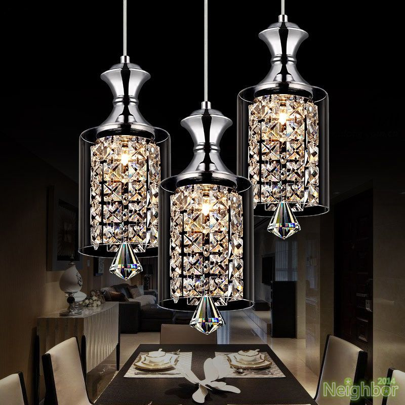 New Modern Crystal Chandelier Ceiling Lights Pendant Lamp Led Lighting 3 Lights Chandelier Pendant Lights Modern Crystal Chandelier Crystal Pendant Lighting