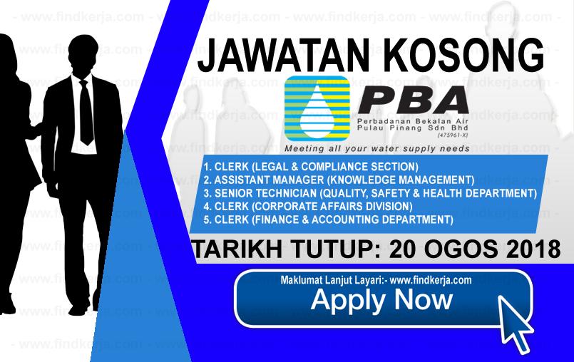 Jawatan Kosong Pbapp Perbadanan Bekalan Air Pulau Pinang 20 Ogos 2018 Applications Are Invited To Knowledge Management Health Department State Government