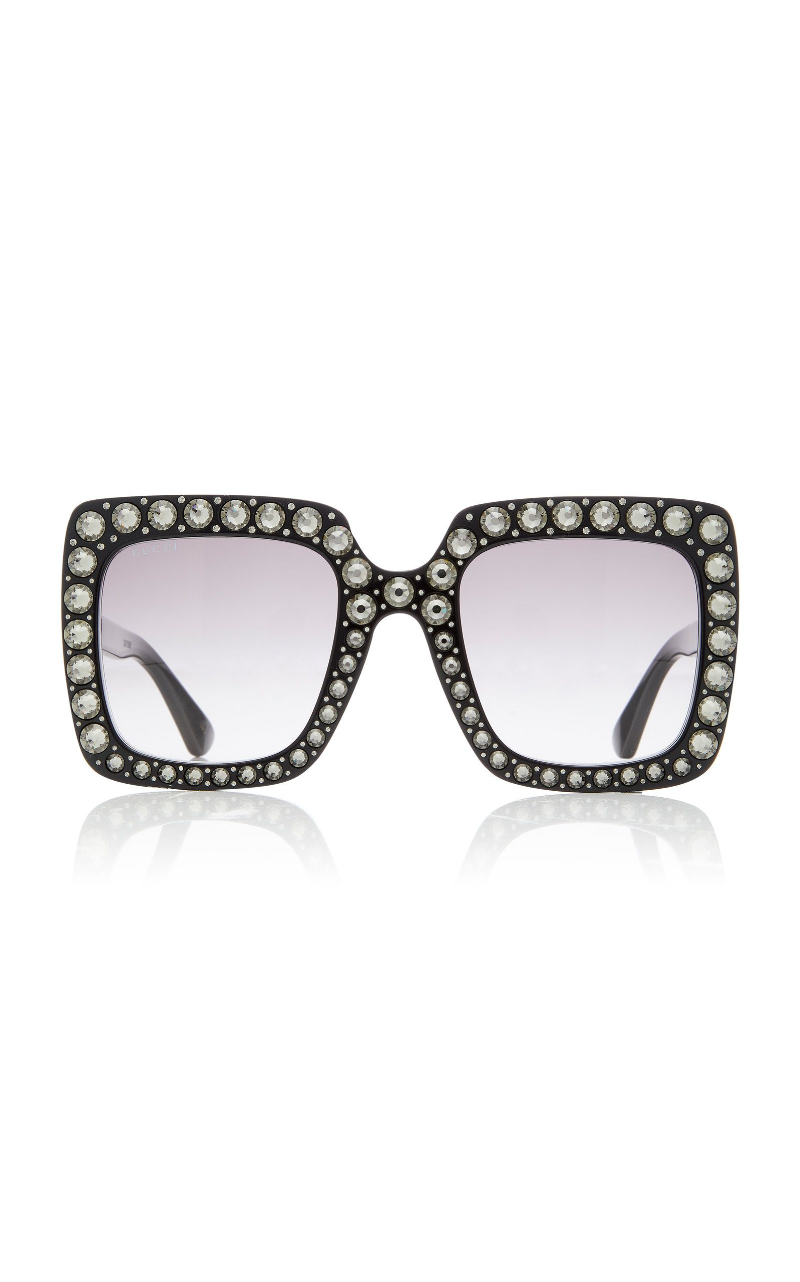 787074ba61 Gucci Crystal-Embellished Square-Frame Sunglasses in 2019 | Products ...