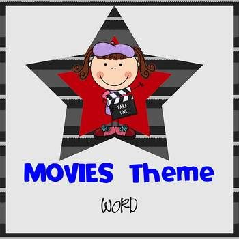 Movie Theme  Newsletter Template  Word  Newsletter Templates