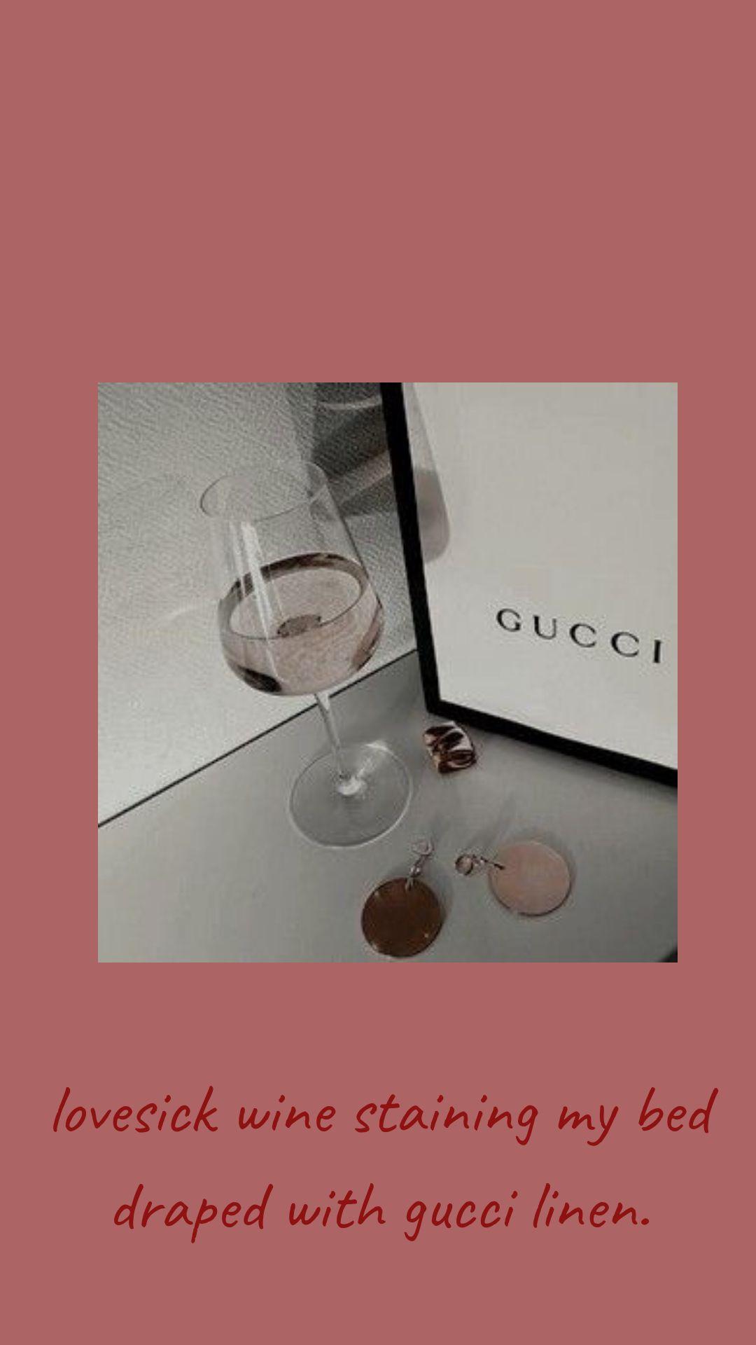 Gucci Pink Wine Aesthetic Blackbear Canva Wallpaper Lockscreen Iphone Wallpaper Iphone Cute Iphone Wallpaper Fall Wine Stains